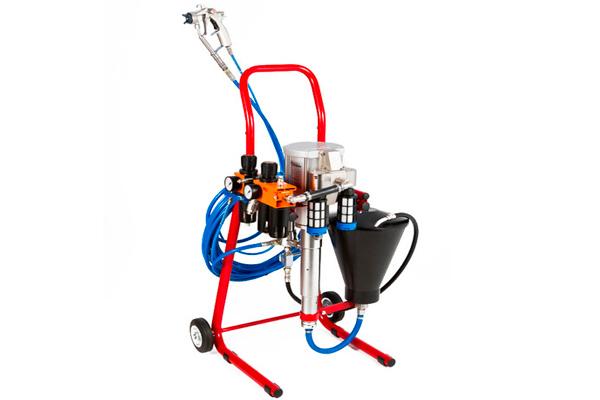 Агрегат высокого давления с краскопультом комбинированного распыления