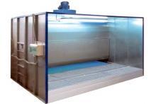 Водяная покрасочная камера (кабина) с водяной завесой OKV c активным водяным полом производства Россия